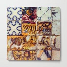 azulejos // tiles Metal Print