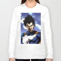 vegeta Long Sleeve T-shirts featuring Prince Vegeta by Shibuz4