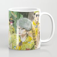 moonrise kingdom Mugs featuring moonrise kingdom by jgart