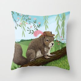 Sir Squirrel Throw Pillow