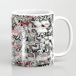 Creating Circumstances 4 Error 2 Fill the System with Meaning (P/D3 Glitch Collage Studies) Coffee Mug