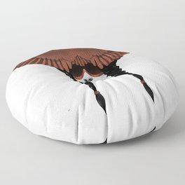 Dark Cardinal Floor Pillow