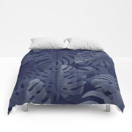 Tropical night Comforters