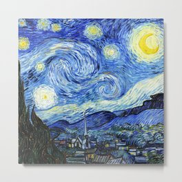The Starry Night - Vincent van Gogh Metal Print