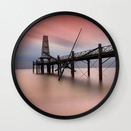 Wooden Pier Wall Clock
