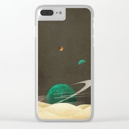 Foreign planets Clear iPhone Case