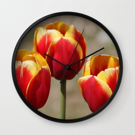 Three Tulips Wall Clock