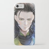 loki iPhone & iPod Cases featuring Loki by Lüleiya