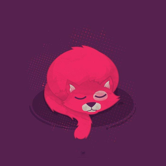 Momoiro, the Pink Cat Duvet Cover