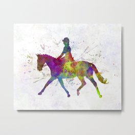 Horse show 05 in watercolor Metal Print