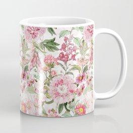 Vintage & Shabby Chic - Botanical Pink Springflowers Meadow Coffee Mug