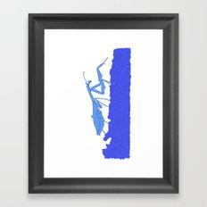 Blue Praying Mantis Framed Art Print