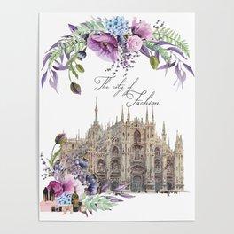 Duomo di Milano Milan Italy Vintage Poster