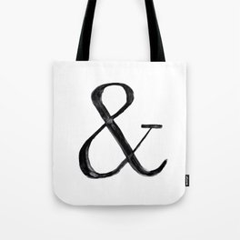 Ampersand watercolor Tote Bag