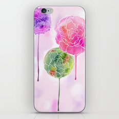 Succulent and Roses iPhone & iPod Skin