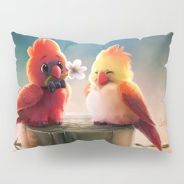 Fantasy Bird Fantasy Animals Couple Love Pillow Sham