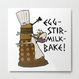 Egg-Stir-Milk-Bake Metal Print