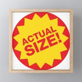 Actual Size Framed Mini Art Print