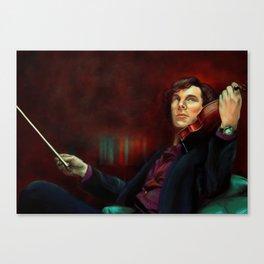 Sherlock: The Violin Canvas Print
