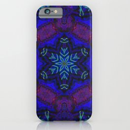 Bioluminescent Tribal Lotus iPhone Case