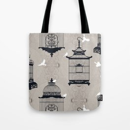 Mascara Empty Brid Cages Tote Bag