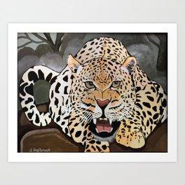Leopard Preparing to Pounce Art Print