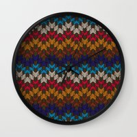 sweater Wall Clocks featuring Daddy's Sweater by Angelo Cerantola