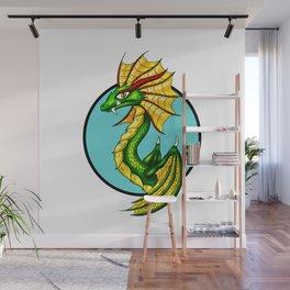 Green Water Dragon Wall Mural
