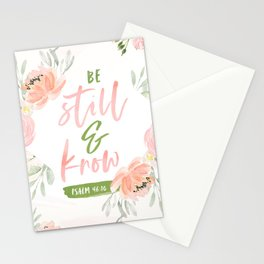 Be Still and Know Bible Verse Stationery Cards