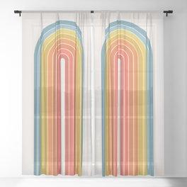 Gradient Arch - Rainbow II Sheer Curtain