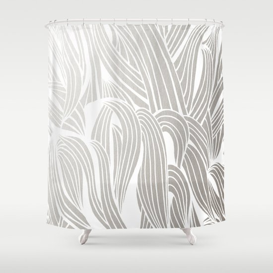 Silver White Shower Curtain By Cat Coquillette Society6