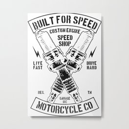 build for speed Metal Print