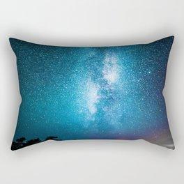 The Galaxy Landscape (Color) Rectangular Pillow