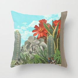 Cactus World Throw Pillow