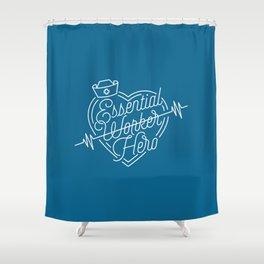 Essential W̶o̶r̶k̶e̶r̶ Hero Shower Curtain