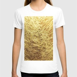 Line of gold thread T-shirt