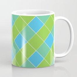 PLAID, NEON BLUE AND LIME GREEN Coffee Mug