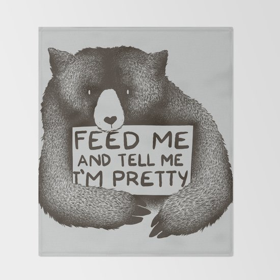Feed Me And Tell Me I'm Pretty Bear by tobefonseca