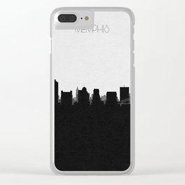 City Skylines: Memphis Clear iPhone Case