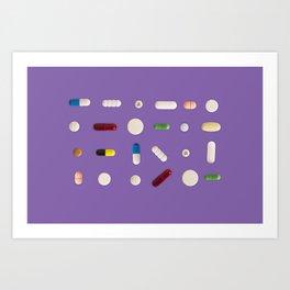 Pill mix Art Print