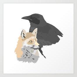 Le corbeau et le renard Art Print