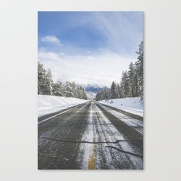 Highway by Cranbrook, BC Canvas Print