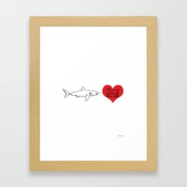 Chum on some of this Framed Art Print