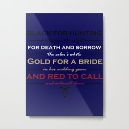 Shadowhunter Nursery Rhyme Metal Print