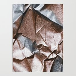 Rose Gold and Silver Abstract Poster