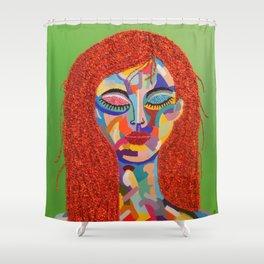 Fauve Lady 3 Shower Curtain