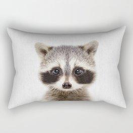 Baby Raccoon Portrait Rectangular Pillow