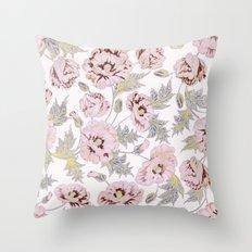 soft poppies Throw Pillow