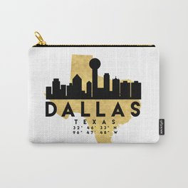 DALLAS TEXAS SILHOUETTE SKYLINE MAP ART Carry-All Pouch