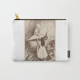 Alice in Wonderland With the Caterpillar  Carry-All Pouch